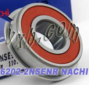 6202-2NSENR Nachi Bearing 15x35x11:Sealed:C3:Snap Ring:Japan