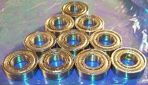 10 Bearing 6202ZZ 15x35x11 Shielded:vxb:Ball Bearings