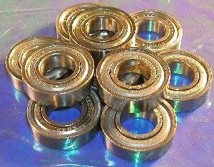 10 Bearing 6202ZZ 15x35x11 Shielded:vxb:Ball Bearing