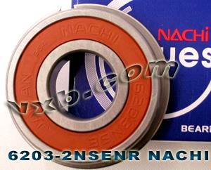 6203-2NSENR Nachi Bearing 17x40x12:Sealed:C3:Snap Ring:Japan