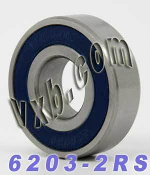 6203-2RS Bearing 17x40x12 Sealed:vxb:Ball Bearing