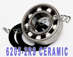 6205-2RS Bearing Hybrid Ceramic Sealed 25x52x15:vxb:Ball Bearings