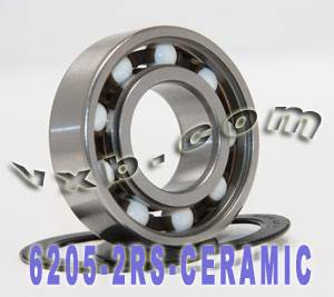 6205-2RS Bearing Hybrid Ceramic Sealed 25x52x15:vxb:Ball Bearing