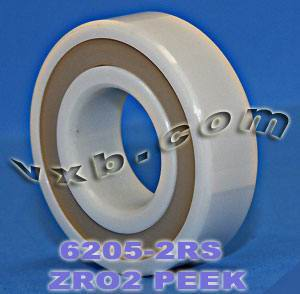 6205-2RS Full Ceramic Sealed Bearing 25x52x15 ZrO2:vxb:Ball Bearing