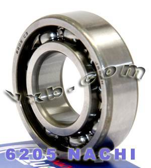 6205 Nachi Bearing 25x52x15:Open:C3:Japan