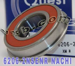 6206-2NSENR Nachi Bearing 30x62x16 Sealed C3 Snap Ring Japan Ball Bearings