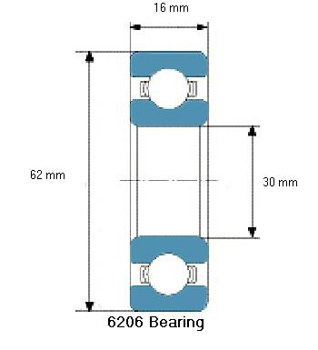 6206 Bearing Drawing