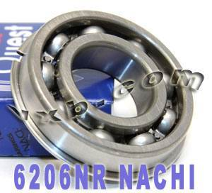 6206NR Nachi Bearing 30x62x16:Open:C3:Snap Ring