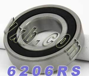 6206RS Bearing 30x62x16 Sealed:vxb:Ball Bearing