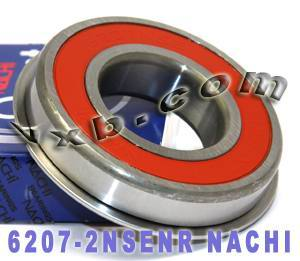 6207-2NSENR Nachi Bearing 35x72x17:Sealed:C3:Snap Ring:Japan