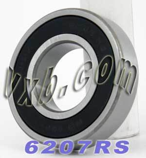 6207RS Bearing 35x72x17 Sealed:vxb:Ball Bearing