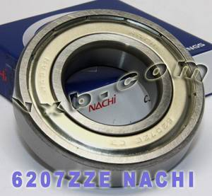 6207ZZE Nachi Bearing 35x72x17:Shielded:C3:Japan