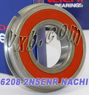6208-2NSENR Nachi Bearing 40x80x18:Sealed:C3:Snap Ring:Japan