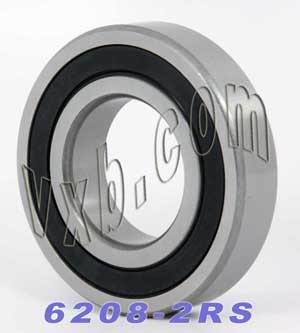 6208-2RS Bearing 40x80x18 Sealed:vxb:Ball Bearing