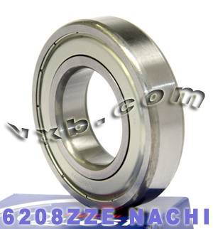 6208ZZE Nachi Bearing 40x80x18:Shielded:C3:Japan