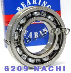 6209 Nachi Ball Bearing 45x85x19:Open:C3:Japan