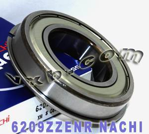 6209ZZENR Nachi Bearing 45x85x19:Shielded:C3:Snap Ring:Japan