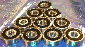10 Bearing 6202RS 15x35x11 Sealed:vxb:Ball Bearing