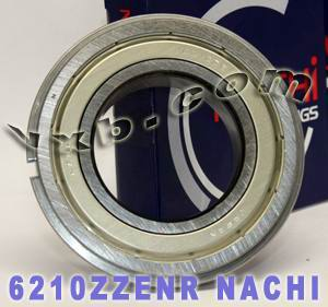 6210ZZENR Nachi Bearing 50x90x20:Shielded:C3:Snap Ring:Japan