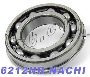6212NR Nachi Bearing 60x110x22:Open:C3:Snap Ring:Japan