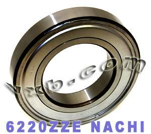 6220ZZE Nachi Bearing 100x180x34:Shielded:C3:Japan