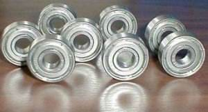 10 Bearing 6201ZZ 12x32x10 Shielded:vxb:Ball Bearings