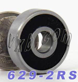 629-2RS Bearing 9x26x8 Sealed:vxb:Ball Bearing