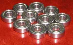 10 Bearing 6008ZZ 40x68x15 Shielded:vxb:Ball Bearings