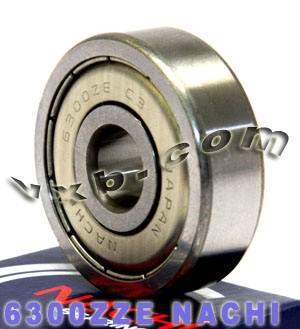 6300ZZE Nachi Bearing 10x35x11:Shielded:C3:Japan