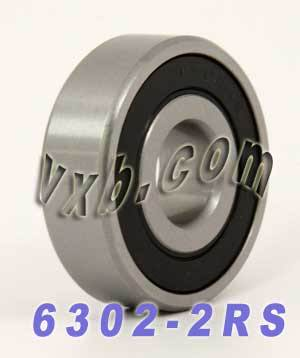 Bearing 6302-2RS 15x42x13 Sealed:vxb:Ball Bearing