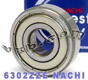 6302ZZE Nachi Bearing 15x42x13:Shielded:C3:Japan