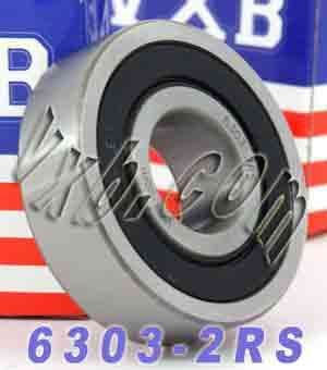 6303-2RS Bearing 17x47x14 Sealed:vxb:Ball Bearing