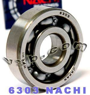 6303 Nachi Bearing 17x47x14:Open:C3:Japan
