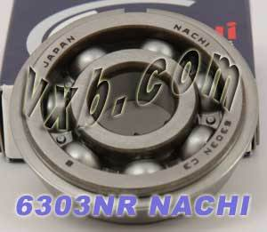 6303NR Nachi Bearing 17x47x14:Open:C3:Snap Ring