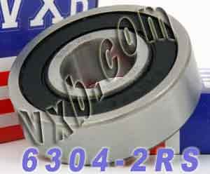 6304-2RS Bearing 20x52x15 Sealed:vxb:Ball Bearing