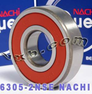 6305-2NSE Nachi Bearing 25x62x17 Sealed C3 Japan Ball Bearings