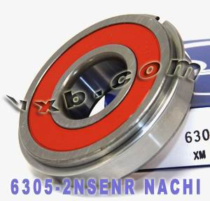 6305-2NSENR Nachi Bearing 25x62x17:Sealed:C3:Snap Ring:Japan