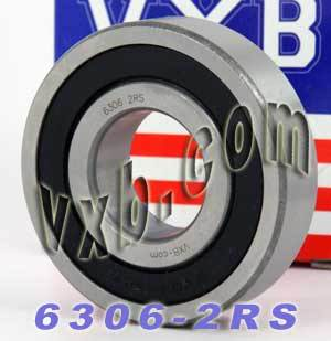 6306-2RS Bearing 30x72x19 Sealed:vxb:Ball Bearing