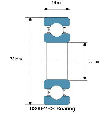 6306-2RS Bearing Drawing