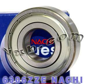 6306ZZE Nachi Bearing 30x72x19:Shielded:C3:Japan