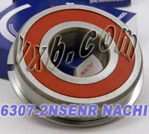 6307-2NSENR Nachi Bearing 35x80x21:Sealed:C3:Snap Ring:Japan