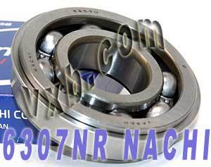 6307NR Nachi Bearing 35x80x21:Open:C3:Snap Ring