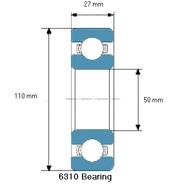 6310 Bearing Drawing