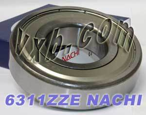 6311ZZE Nachi Bearing 55x120x29:Shielded:C3:Japan