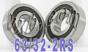 2 Bearing 63/32-2RS 32x75x20 Sealed:vxb:Ball Bearings