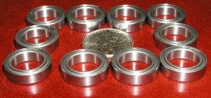 10 Bearing 6700ZZ 10x15x4 Shielded:vxb:Ball Bearings