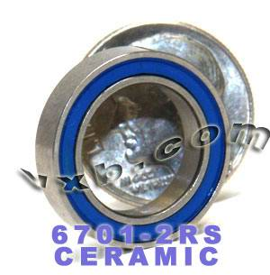 6701-2RS Bearing 12x18x4 Si3N4 Ceramic:Chrome:Sealed:ABEC-5:vxb:Ball Bearing