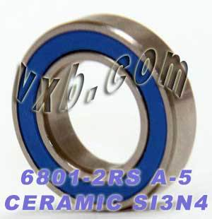 6801-2RS Bearing 12x21x5 Si3N4 Ceramic:Chrome:Sealed:ABEC-5:vxb:Ball Bearing