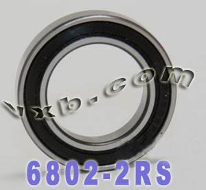6802-2RS Sealed Bearing 15x24x5:vxb:Ball Bearing