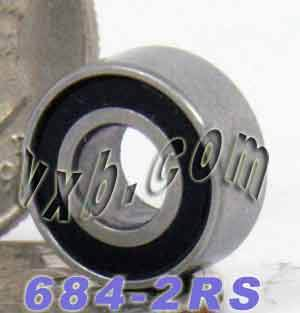 684-2RS Bearing 4x9x4 Sealed:vxb:Ball Bearing